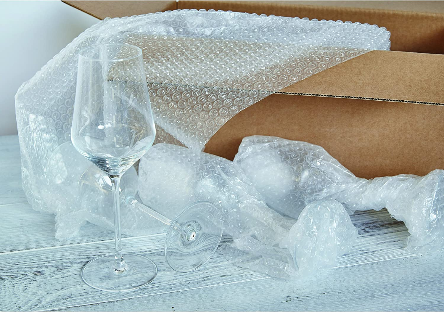 Sealed Air 48561 Recycled Bubble Wrap Light Weight 5//16 Air Cushioning 12 x 100ft