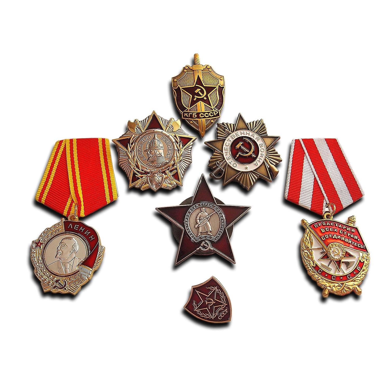 Más Alto Soviética militar medallas selección | 7x medalla/insignia | Elite premio antiguo reproducción URSS colección Trikoty