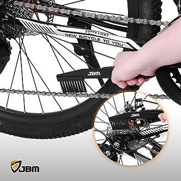 Soporte de cadena de bicicleta herramienta de limpieza de reparaci/ón de cadenas de liberaci/ón r/ápida protector de cadena de bicicleta gu/ía de rueda de bicicleta cepillo limpio para limpieza