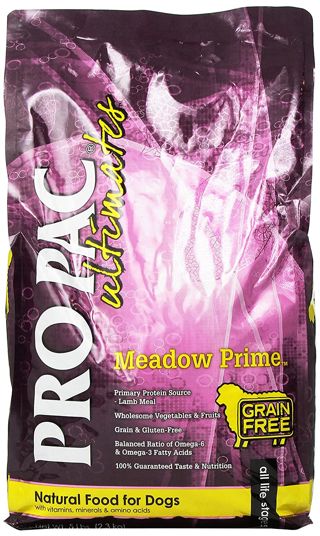 5 lb Pro Pac Ultimates Meadow Prime Grain Free Dry Dog Food, 5 Lb