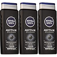 3-Pack Nivea Men Active Clean Body Wash (Natural Charcoal)