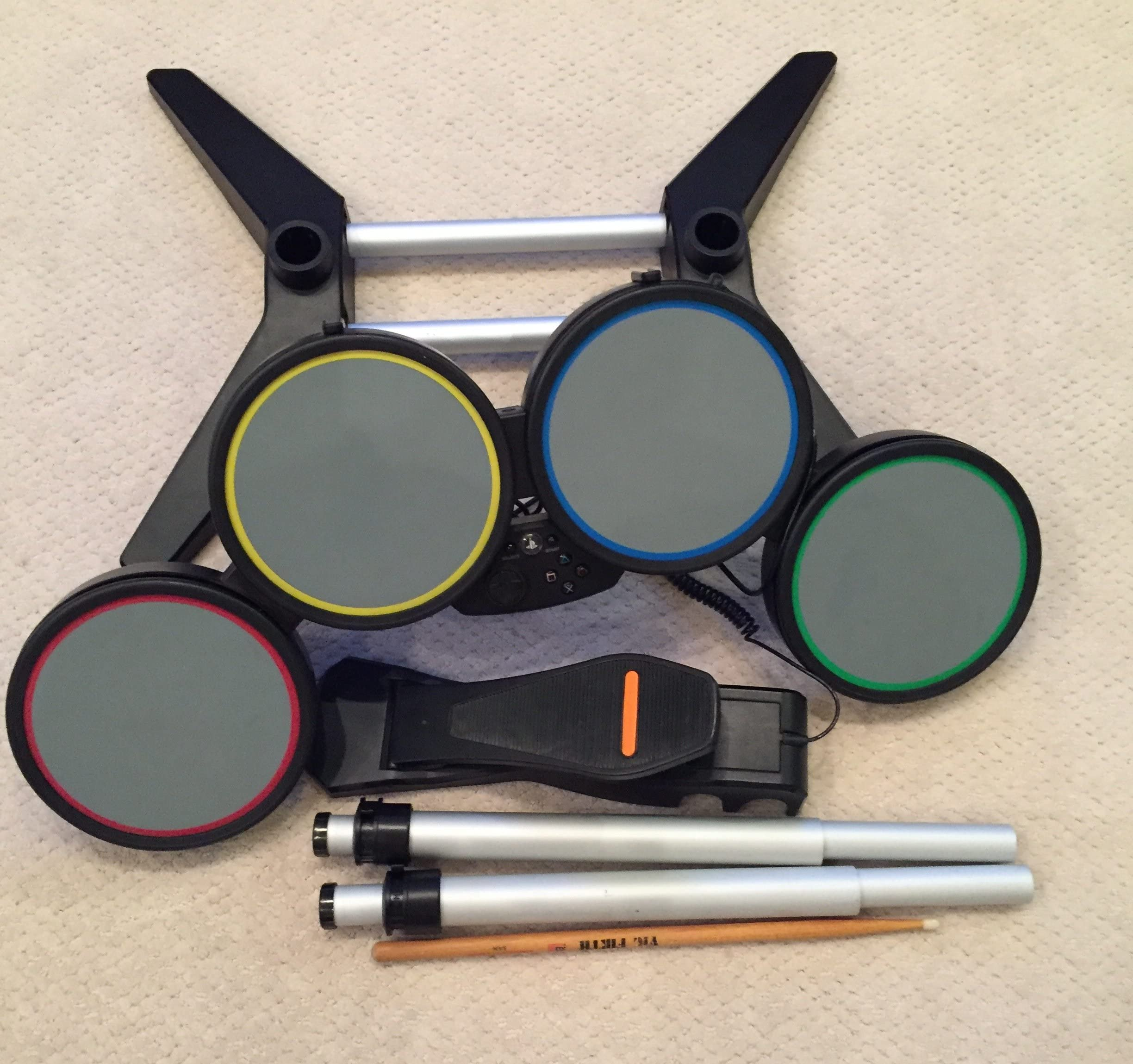 Amazon.com: Rock Band Harmonix Wired Drum Kit Set Stand Ps2/Ps3 ...