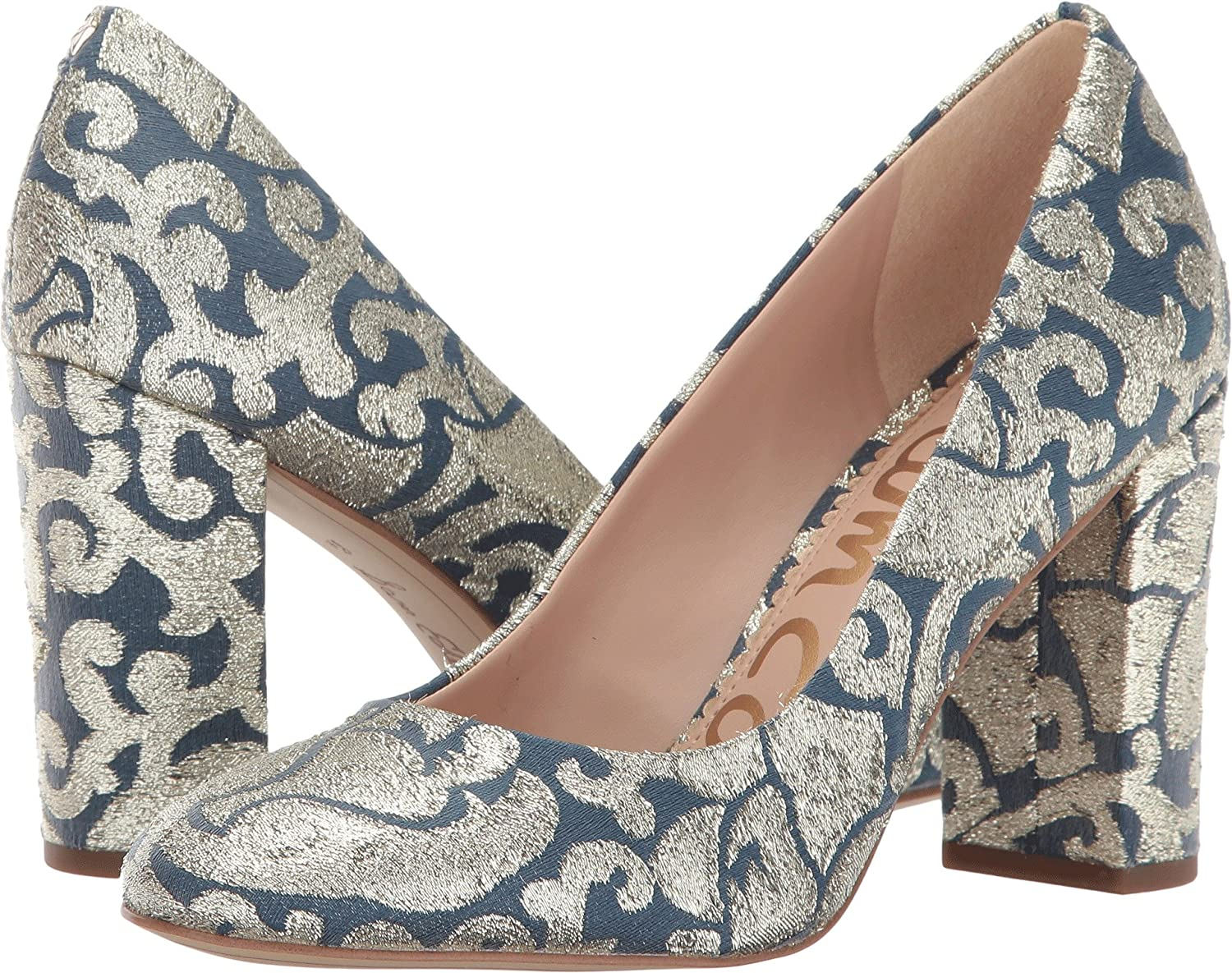 bluee Multi Geometric Tie Fabric Sam Edelman Women's Stillson Pumps