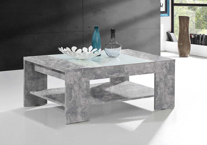 in legno NEWFACE Brady Grigio 120 x 71 x 45 cm Tavolino da salotto con ripiano