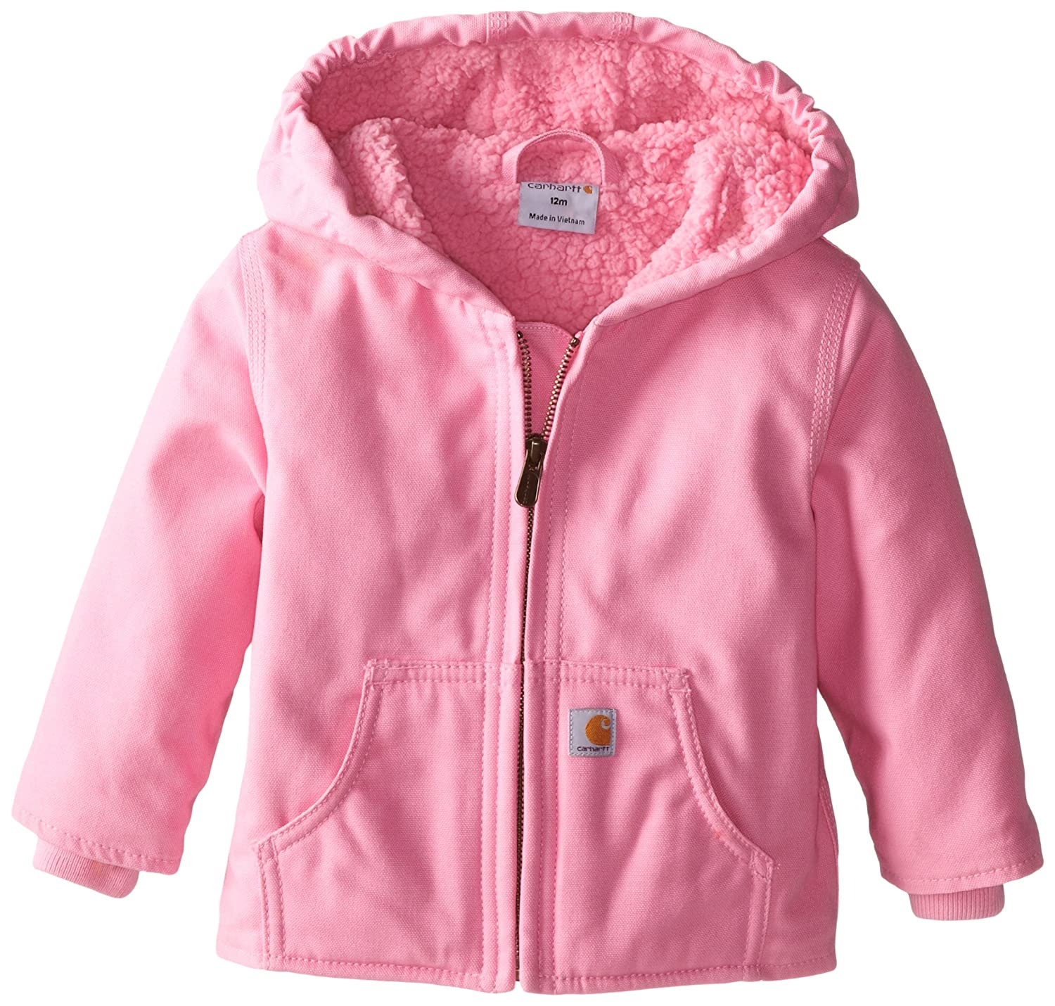 Amazon.com: Carhartt Baby Girls' Redwood Jacket Sherpa Lined: Clothing
