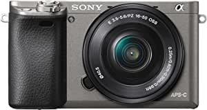 Sony Alpha 6000 - Cámara EVIL de 24.3 MP, color negro y gris