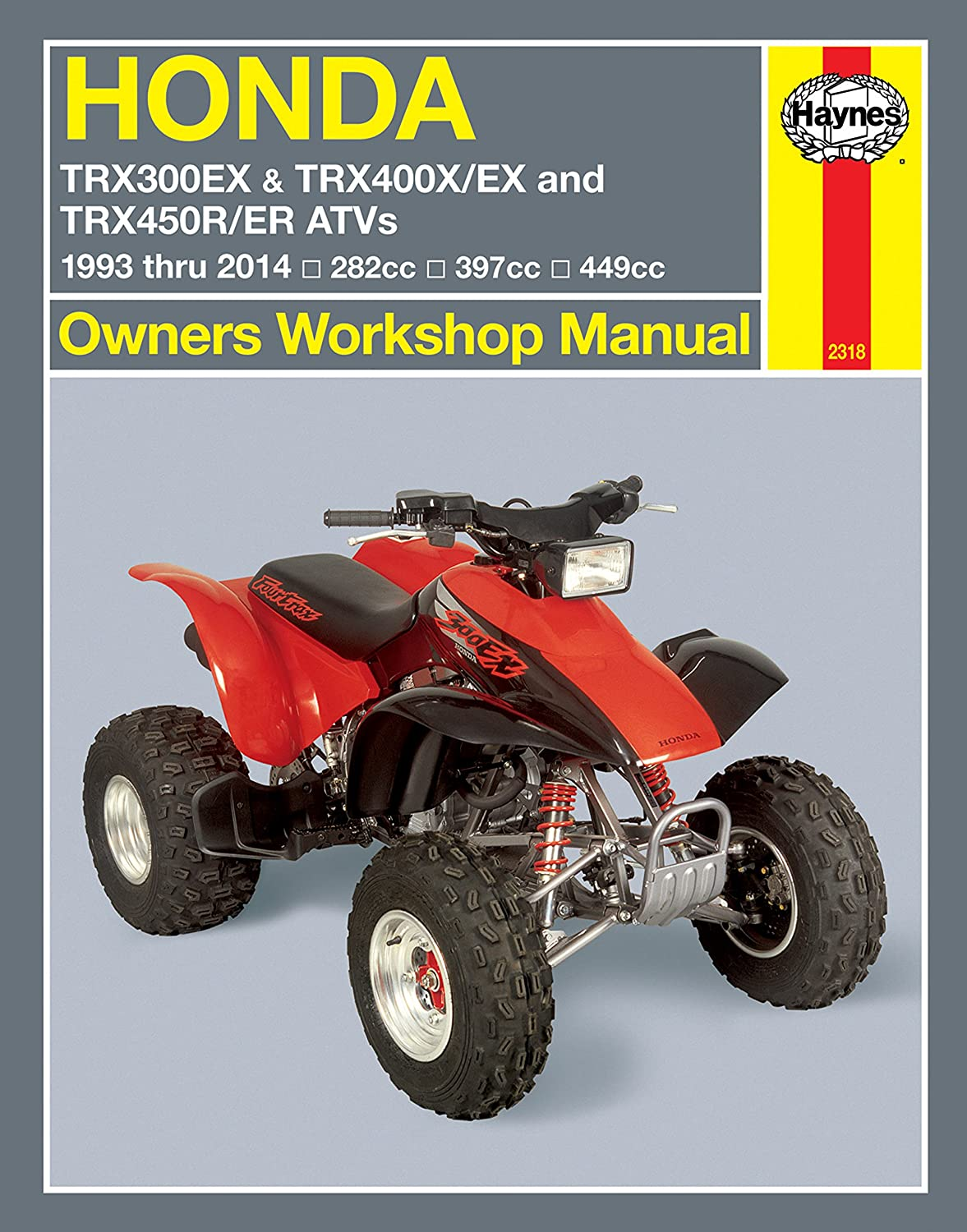 Amazon.com: 1993-2014 Honda TRX 300 400 450 FourTrax EX X R ER Quad ATV  HAYNES REPAIR MANUAL: Automotive