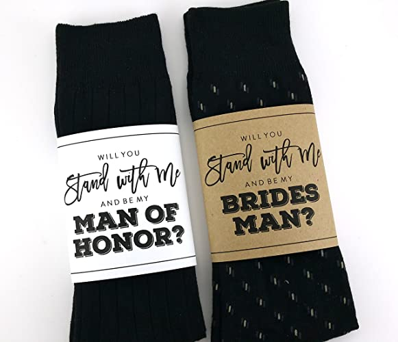 Amazon will you be my bridesman sock wrapper will you be my will you be my bridesman sock wrapper will you be my man of honor sock junglespirit Images