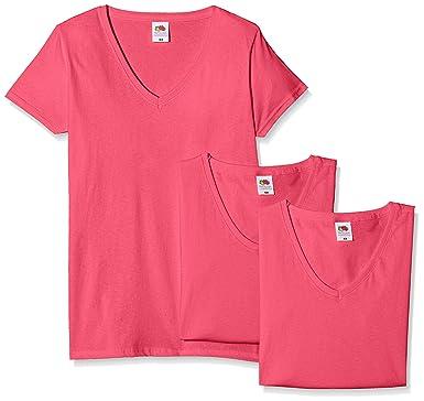 7dfb55ec38feba Fruit of the Loom Damen T-Shirt, 3er Pack: Amazon.de: Bekleidung