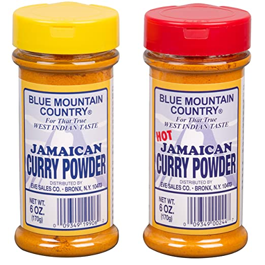 Blue Mountain Country Jamaican Curry and Hot Curry Powder, 6 ounce (Pack of 2)