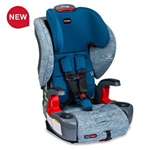 Britax Grow with You ClickTight Harness-2-Booster Car Seat - 2 Layer Impact Protection - 25 to 120 pounds, Seaglass