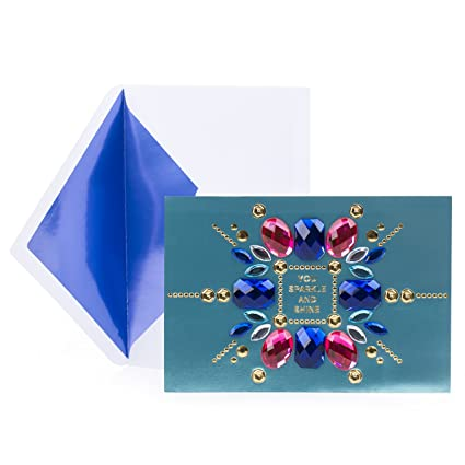 Amazon Hallmark Signature Birthday Card Gem Collage Office