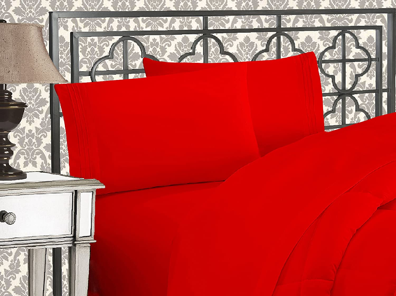 Elegant Comfort Luxurious Red Bed Sheet