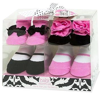 Amazon Com Baby Essentials Baby Girls 4 Pack Socks Baby
