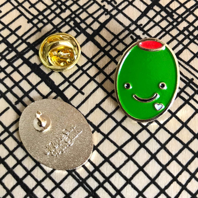 Gold Night Owl Paper Goods Olive Love Enamel Pin