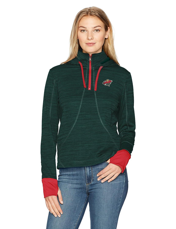 OTS NHL Adult Women's Annabelle 1/4-zip Pullover Hoodie