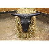 Steer Head w/ Hay Bale Spikes - Black