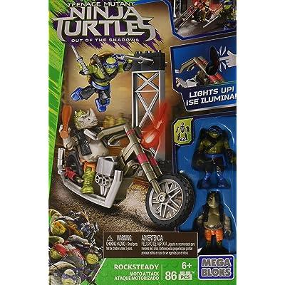 Mega Bloks Teenange Mutant Ninja Turtles: Out of The Shadows Rocksteady Moto Attack Playset: Toys & Games [5Bkhe1106591]