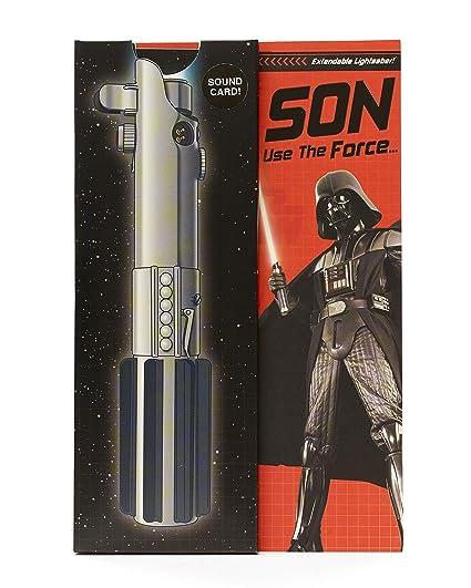 Tarjeta de cumpleaños para hijo de Disney Star Wars con luces y sonido.