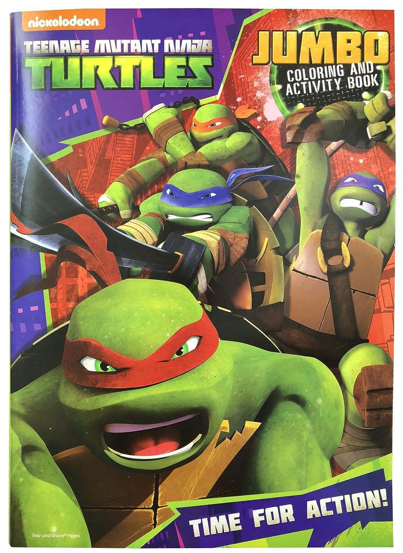 Amazon.com: Teenage Mutant Ninja Turtles Jumbo Coloring and Activity ...