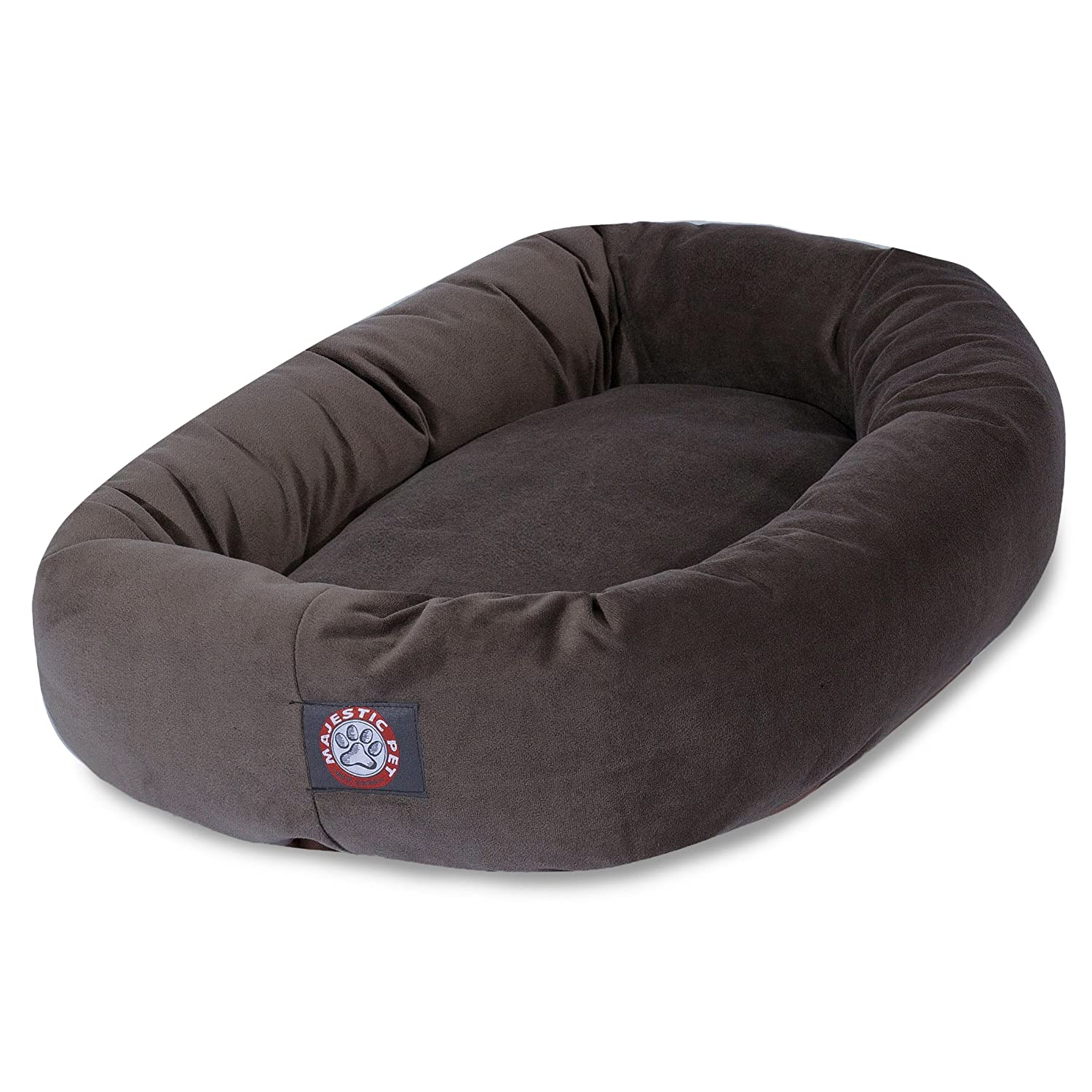 Chocolate 40InchMajestic Pet 40  Black Velvet Bagel Dog Bed