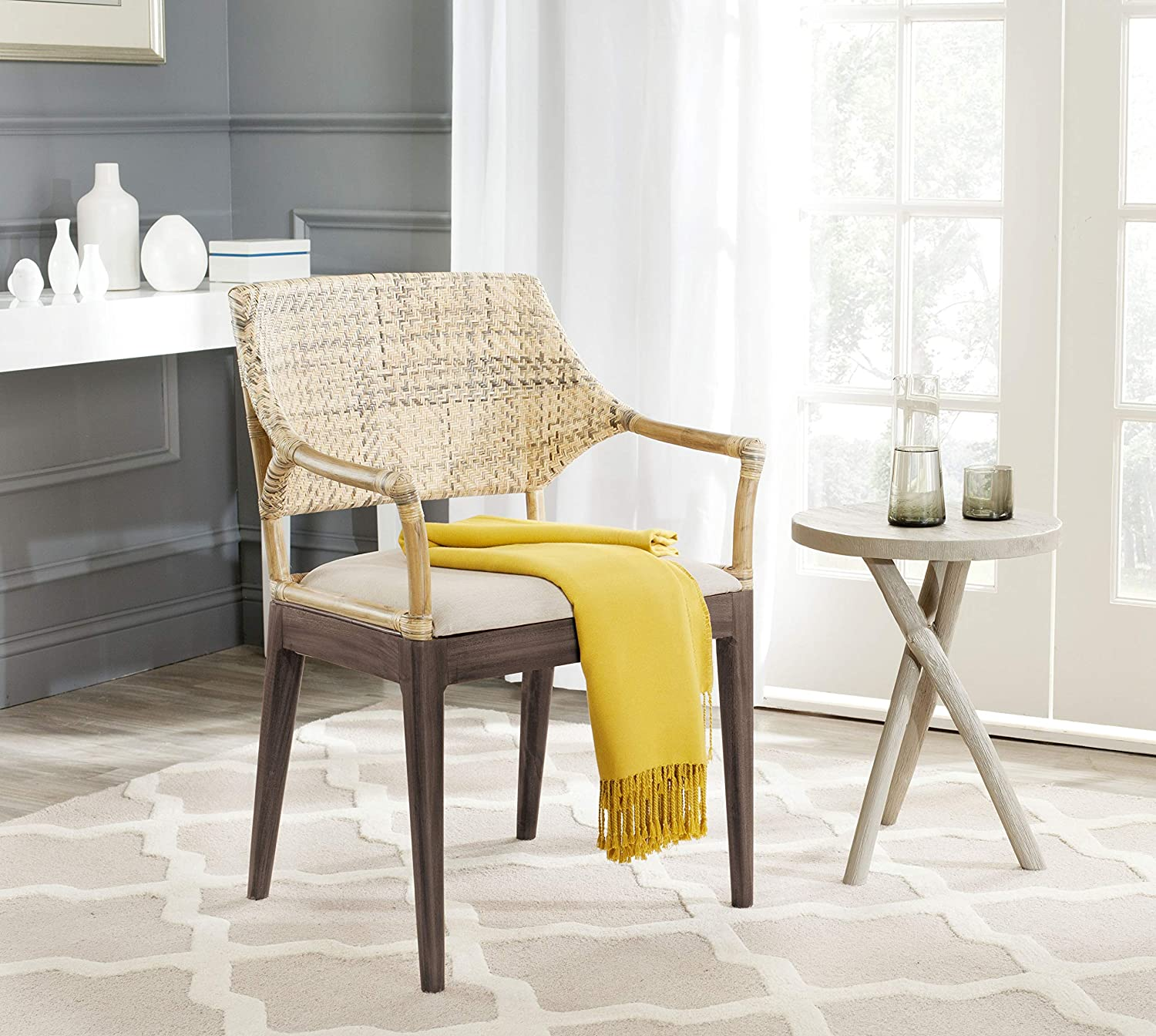 Safavieh Home Collection Carlo Arm Chair, Honey