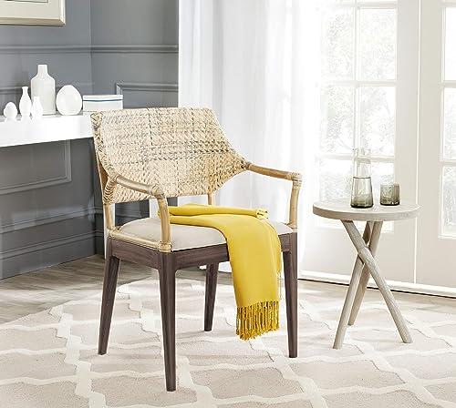 Safavieh Home Collection Carlo Arm Chair, Honey
