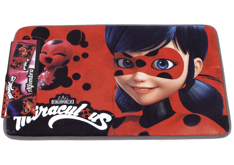 Rouge Polyester ARDITEX LB11881 LadyBug Miraculous Tapis pour Enfant 45 x 1 x 75 cm