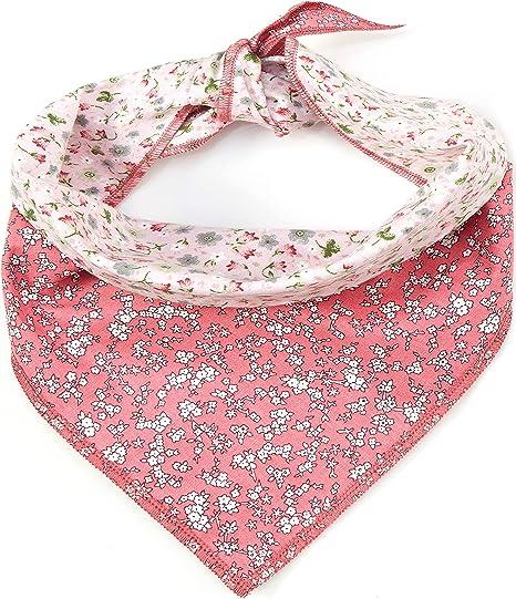 floral bandana over the collar Floral blush bandana pet apparel pink dog bandana