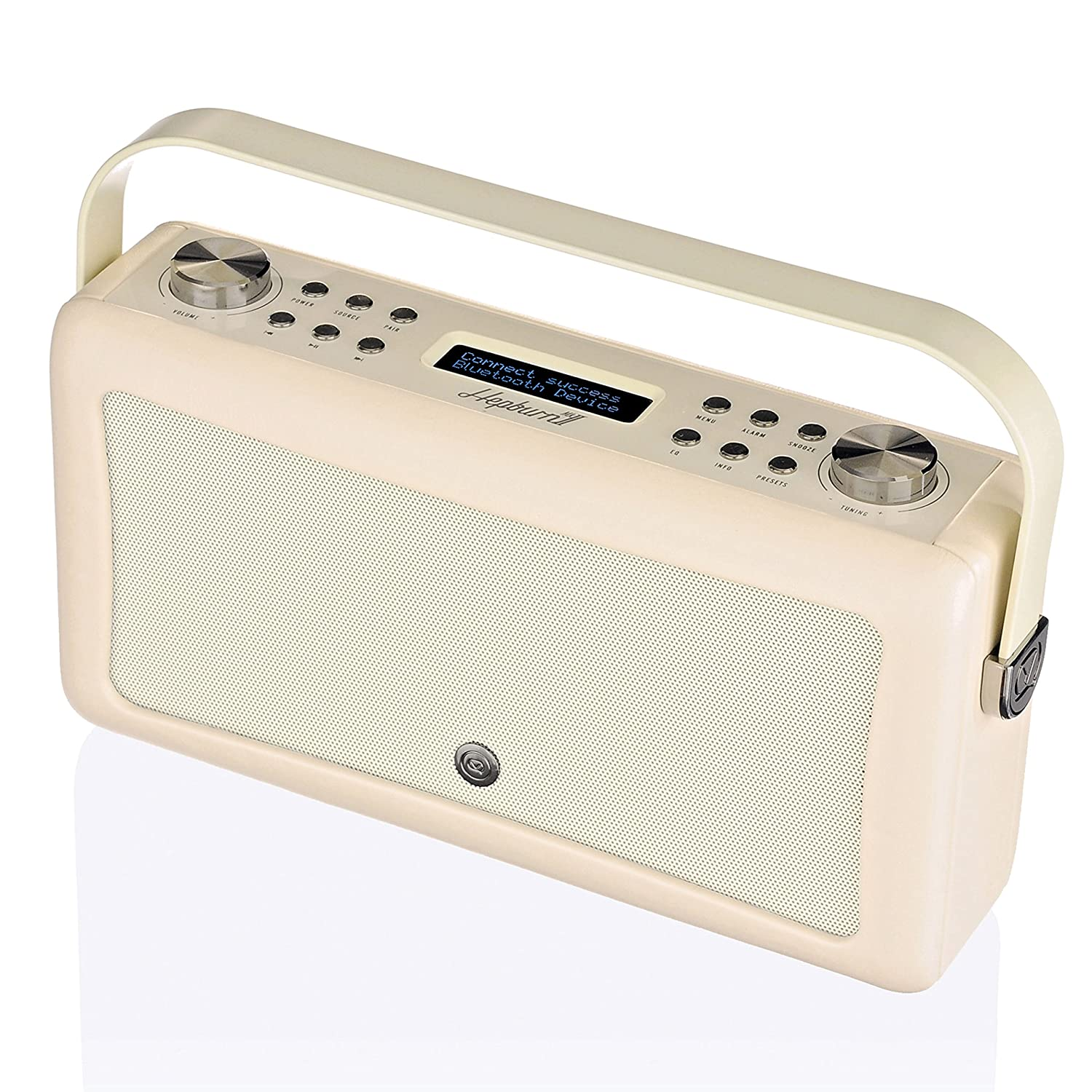 View Quest Hepburn MK II DAB + Radio con altavoz Bluetooth, Crema de color