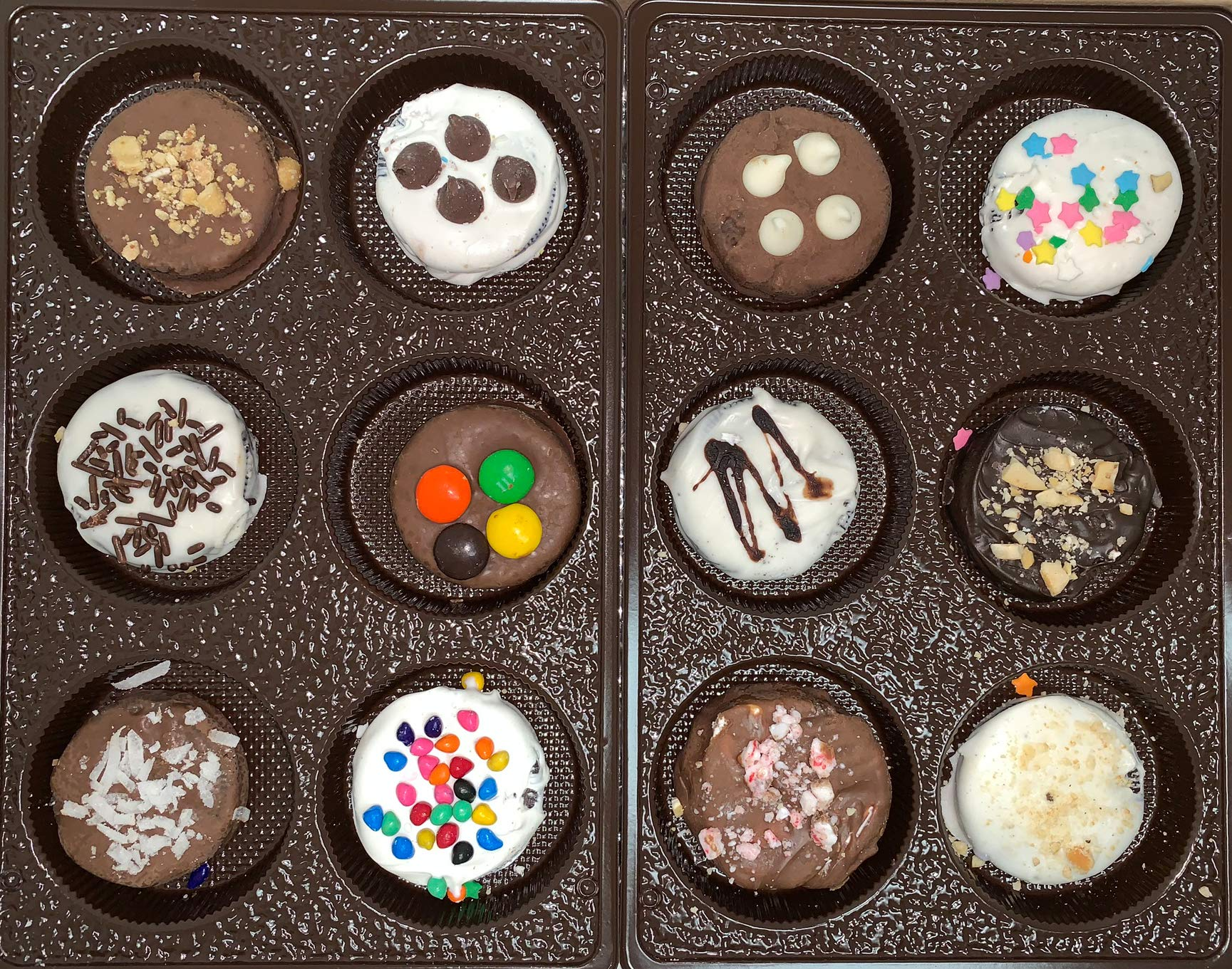Chocolate Covered Cookies Gift Box. Gourmet Sandwich Cookies. Perfect Gift for the Holidays. 12 Tasty Decorated Cookies. Beautifully Gift Box, Great Gift for Men, Women, Children. Guarantee Fresh. by Coco's Gift Baskets