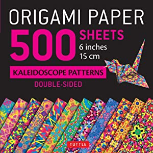 Origami Paper 500 sheets Kaleidoscope Patterns 6 (15 cm): Tuttle Origami Paper: High-Quality Origami Sheets Printed with 12 Different Designs: Instructions for 8 Projects Included