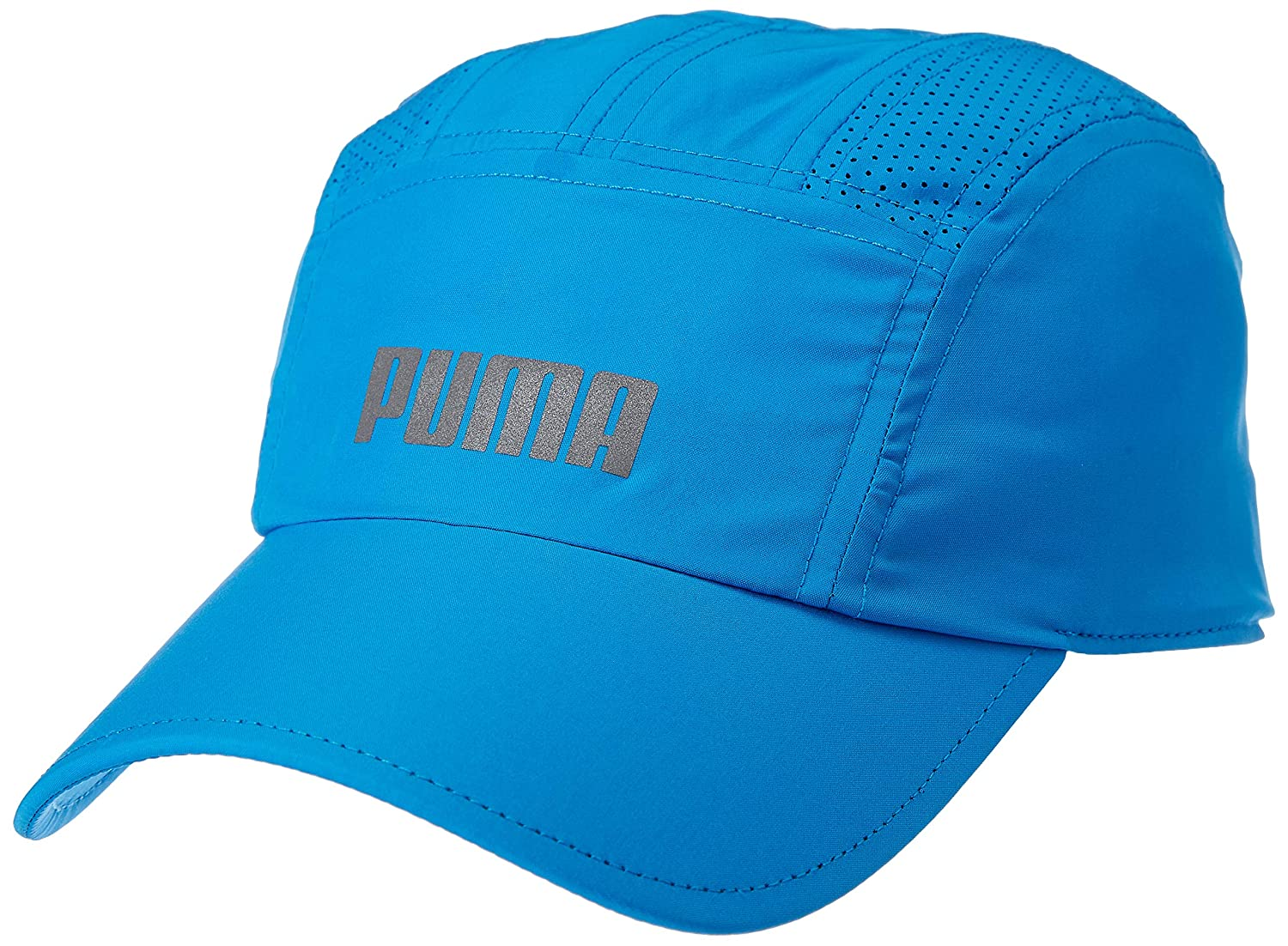 newest 1abdd da0e2 Puma Unisex Sky Blue Performance Running Cap  Amazon.in  Clothing    Accessories