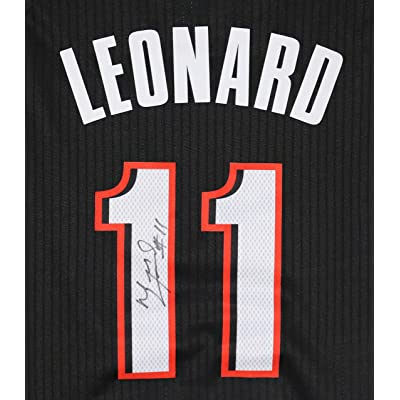 35e3ae99e7a Meyers Leonard Portland Trail Blazers Signed Autographed Black #11 Jersey