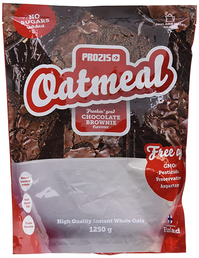 Prozis Oatmeal, Chocolate Brownie - 1250 gr: Amazon.es: Salud y cuidado personal