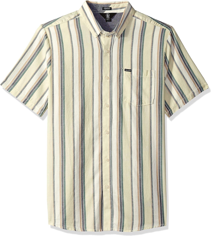 Volcom Hombre A0431803 Manga Corta Camisa de Botones: Amazon.es: Ropa y accesorios