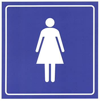 Amazon.com : Womens Restroom Door Sign Sticker 6-in. Square ...