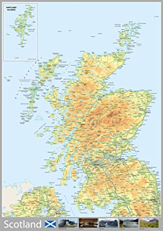 Map Of Uk And Scotland.Scotland Map A0 Size 84 1 X 118 9 Cm