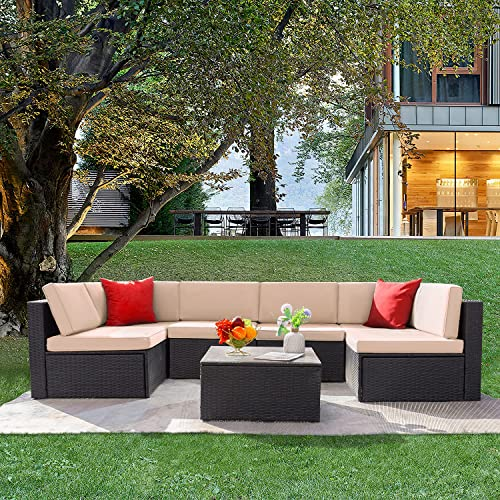 YarStore Adjustable Luxurious Patio Conversation Sets Outdoor Home Garden Terrace Sectional Sofa Pack Seating Group