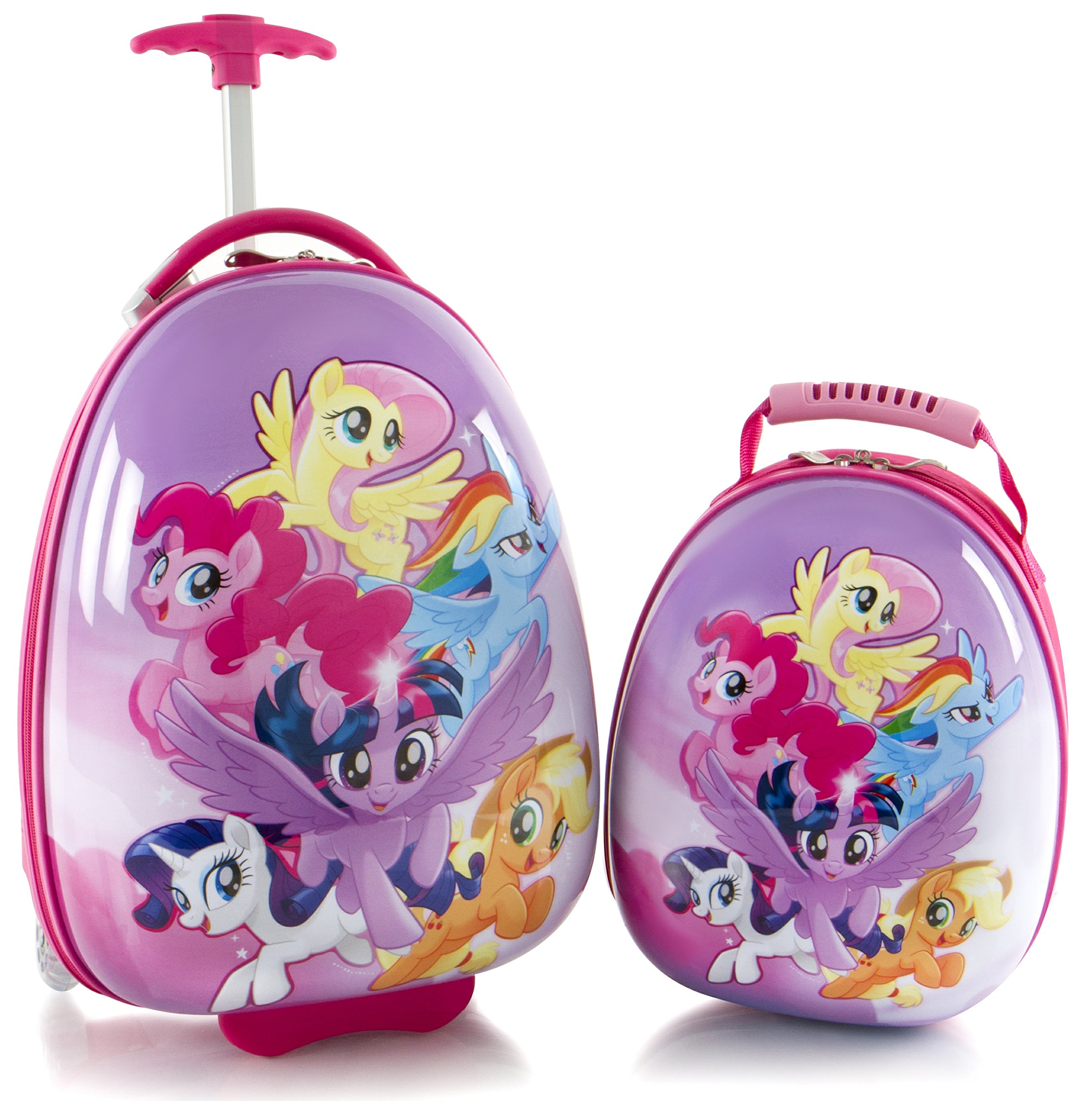 Heys America My Little Pony Kids 2 Pc Luggage Set -18'' Carry On Luggage & 12'' Backpack