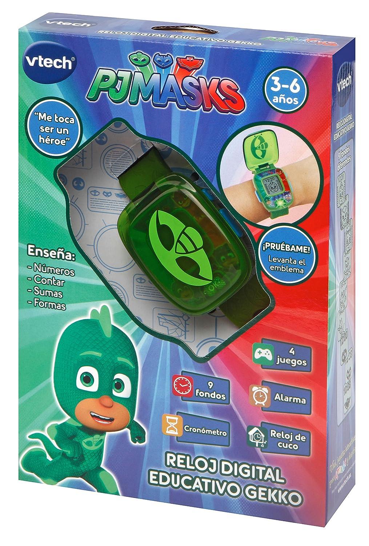VTech PJ Masks Gekko, Reloj Digital Educativo Que estimula el Aprendizaje e incorpora minijuegos y Actividades, Color Verde (3480-175887): Amazon.es: ...