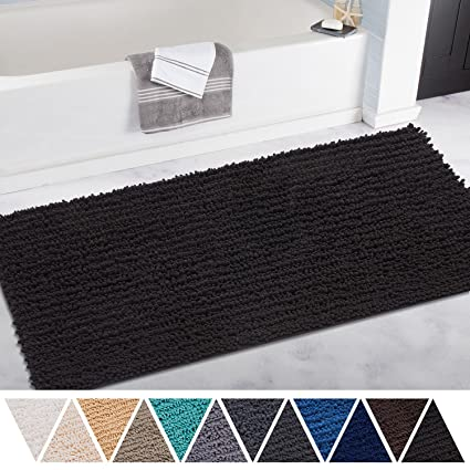 Amazon.com  DEARTOWN Non-Slip Thick Microfiber Bathroom Rugs ... ced1b20d3