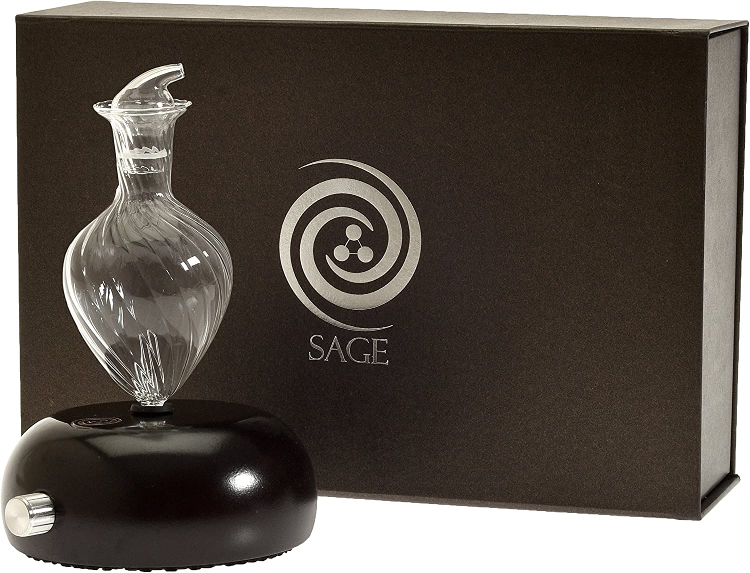 Nebulizing Diffuser for Essential Oils and Aromatherapy NO Heat, Water, Plastics OR Artificial Materials - Sage Core Series - Spiral Model in Gift Box