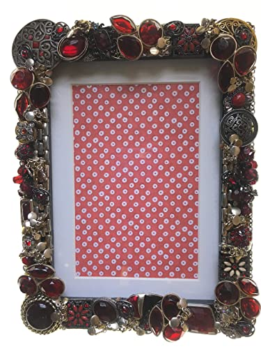 Amazoncom Gold With Red Rhinestone Photo Picture Frame