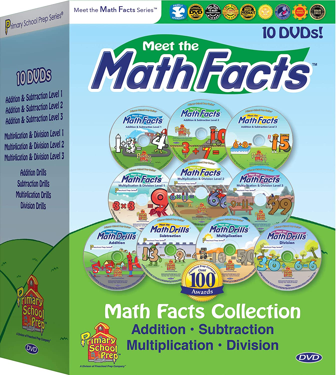 Amazon.com: Meet the Math Facts 10 DVD Set - Addition, Subtraction ...