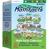 Meet the Math Facts 10 DVD set - addition, subtraction, multiplication & division...