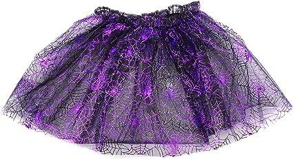 Falda tutú de 30 cm de largo con purpurina morada para disfraz de ...