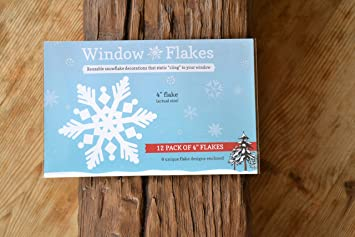 Amazoncom  Snowflakes Clings  In Size Reusable White - Snowflake window stickers amazon