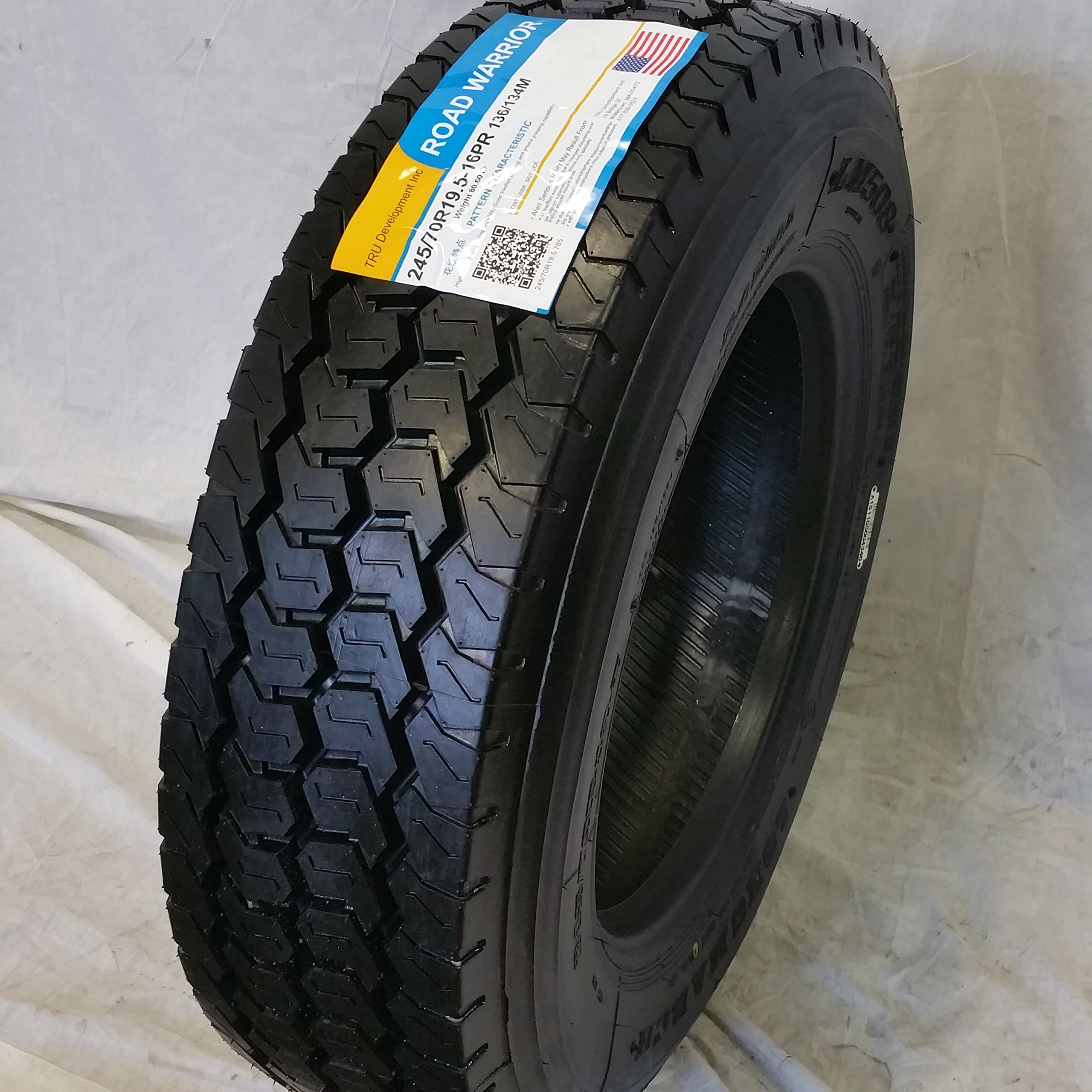 (4-TIRES) 245/70R19.5 H/16 NEW ROAD WARRIOR LONG MARCH LM-508 DRIVE ALL POSITION TIRES 16 PLY 24570195 by ROAD WARRIOR (Image #3)