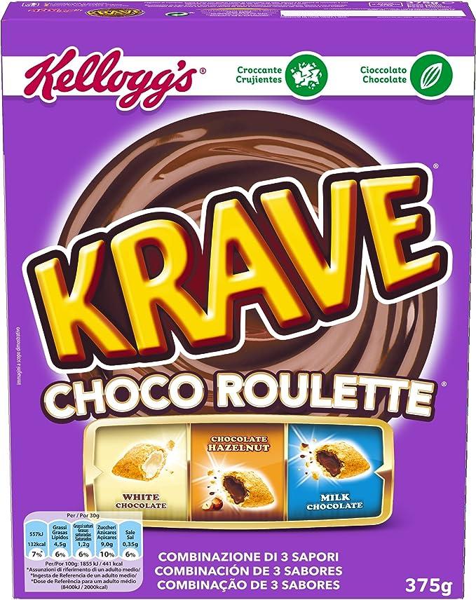 Kelloggs Krave Choco Roulette Cereales - 375 g: Amazon.es ...